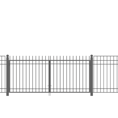 Ворота распашные 2.43х3 м ECONOM 3D-панель