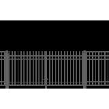 Ворота распашные 1.73х3 м ECONOM 3D-панель