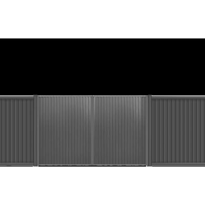 Ворота распашные 2.03х3 м ECONOM профлист