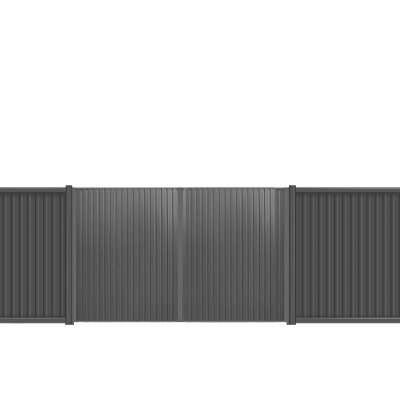 Ворота распашные 1.73х3 м ECONOM профлист